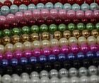 Pack of 100 pieces 8mm Round Glass Pearl Beads - Choose from 15 Colours