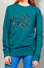 Equestrian HORSE Riding Adults FLEECE TOP JERSEY JUMPER,GALLOPING HORSES
