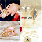 Hot Women Girl Crystal Balloon Owl Vintage Necklace Charm Pendant Long Chain