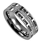 TRUE LOVE WAITS Ring 1 Timothy 4:12 Scripture Crescent CZ Stones BRAND NEW