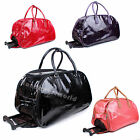 Ladies Croc Print Faux Leather Holdall Weekend Trolley HolidayTravel Handbag