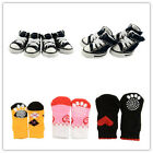 Puppy Pet Dog Denim Shoes Antislip Sneaker Cotton Soft Socks Stocking