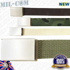 Milcom 40mm Military Army Style Cotton Webbing Adjustable Belt with Metal Buckle
