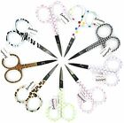 "3.5"" Embroidery Scissors Fun Designs Animal-Dots-Bows Sharp Point Ship Discounts"