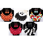 8MI Exaggerated Multi-level Design Lady Fashion Jewel Bib Necklace With Earrings