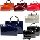 Ladies Designer Hard Leather Celebrity Style Tote Bag with Satchel Must Have