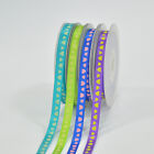 100Yards/roll Satin Ribbon Printed Heart For Hairbws Gril DIY  Accessories