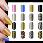 NEW Fashion 16X Bling Cool Nail Art Sticker Foils Smooth Wraps DIY Decoration