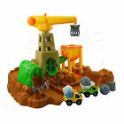 CONSTRUCTION SITE PLAY SET BULIDING WORKING CRANE KIDS LEARNING TOYS GAMES 10PC