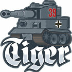 ICONZ CARTOON TEE SHIRT SS GERMAN NAZI TIGER TANK TANKFEST WORLD OF TANKS