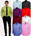 Mens Plain Office Shirt Formal Casual Size Small to 3XL Premium