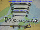 Stainless Steel Wire Rope Fittings, Tensioners - Garden Canopy Sail Sun Shades.