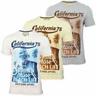 South Shore Mens T-Shirt 'Cali 75' Short Sleeved Beach Print