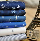 50*110 CM  Navy Anchor cotton tecido curtains bedding quilting fabric