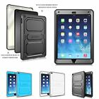 Rugged Dual Layer Hybrid Full Protective Case Cover for iPad Air 2 6th Gen 2014