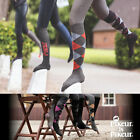 PIKEUR LONG EQUESTRIAN RIDING DIAMOND PATTERN SOCKS -MANY COLOURS TO CHOOSE FROM