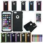 "RUGGED HEAVY DUTY IMPACT HARD HYBRID ARMOR CASE+COVER FOR iPhone 6 Plus 5.5""+PEN"