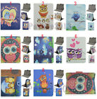 Fold Cute Cartoon Owl Animal Printed Leather Case Cover For Various 10.1 Tablet