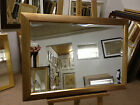 57mm ANTIQUE GOLD RIBBED WALL AND OVERMANTLE MIRROR - VARIOUS SIZES AVAILABLE