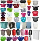 Large Plastic Laundry Washing Basket Hip Clothes Storage Hamper Linen Round Bin