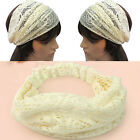 New Fashion Chic Bandanas Lace Head Wraps Women Lady Girls Wide Headband Gift C1