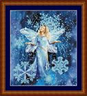 SNOW FAIRY -  14 COUNT CROSS STITCH CHART (DMC THREADS) FREE PP WORLDWIDE