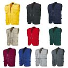Work Vest Safari Travel Fishing Hunting Photo Jacket Multi Pocket #TB-V1~V10