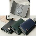Man Key Holder Man Trifold Key Wallet Bill Slot Key Wallet Cowhide Leather 1166D