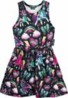 Six Bunnies Girls 2-10yrs Unicorn Pony Rainbow Dress Rockabilly Tattoo Party