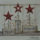 "KT077 Faith Family Friends Karen Tribett 10""x10"" framed or unframed print art"
