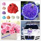 Stylish Latex Artificial Rose Flowers For Diy Bouquets Bridal 3/6 cm 12-48 Head