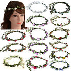 Bridesmaid Boho Floral Flower Festival Wedding Forehead Head Hair band Garland