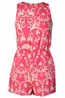 Glamorous Women's Bright Pink Baroque Patterned Playsuit