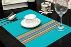 Set of 6 Table Placemats-- 4 Colours Can Be Chosen From