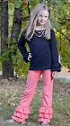 Double Ruffle Long Sleeve Shirt 6 colors size 2T, 3T, 4T, 5T, 6, 7, 8, 9