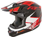 Fly Racing Kinetic Impulse Red Black Youth S-L & Adult XS-2X Motocross Helmet
