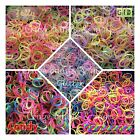 RUBBER BAND REFILL Glitter Candy Neon Glow in Dark Fluorescence Rainbow colors