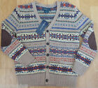 Ralph Lauren boy wool blend cardigan jumper 6-7 y BNWT designer