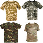 Kombat High Quality Military 100% Cotton 4 Colours Camo Patterned T-Shirt