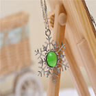 fashion exquisite glow in the dark pretty crystal snowflake necklace party gift