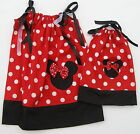 """Custom Made Minnie Mouse Pillowcase Dress Girls & 18"""" Doll Size 1T,2T,3T Cotton"""
