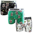 BAWBAGS NEW Men's 3 Pack Boxer Shorts Day Of The Dead Underwear BNIB