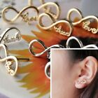 New Infinity Faith/Dream/Hope/Love Words Letter Gold/Silver Plated Earring Stud
