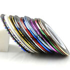 NEW 32 Nail Art Metallic Yarn Line Rolls Striping Tape Beauty DIY Decoration Hot