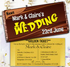 Personalised 114g Galaxy Chocolate Bar Golden Ticket WEDDING INVITATIONS N55