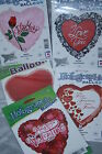 "VALENTINES DAY BALLOONS love ideal gift 18"" foil just add your own helium ribbon"