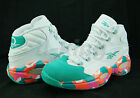 Reebok Question Mid White Noise Pink Teal White Orange Allen Iverson M44034