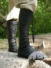 """Medieval Footwear , Medieval Fantasy High Boots """"Forest"""""""