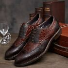 NEW Men's Cow Leather Shoes Dress Formal Business Lace up D8538 Brown Black 6~11