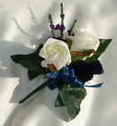Rose,thistle & Heather Buttonhole For Weddings, Kilts.